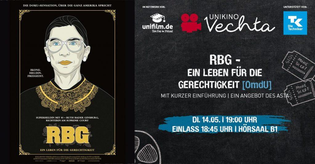 Unikino: RBG - Ein Leben für die Gerechtigkeit (OmdU) @ Hörsaal B1