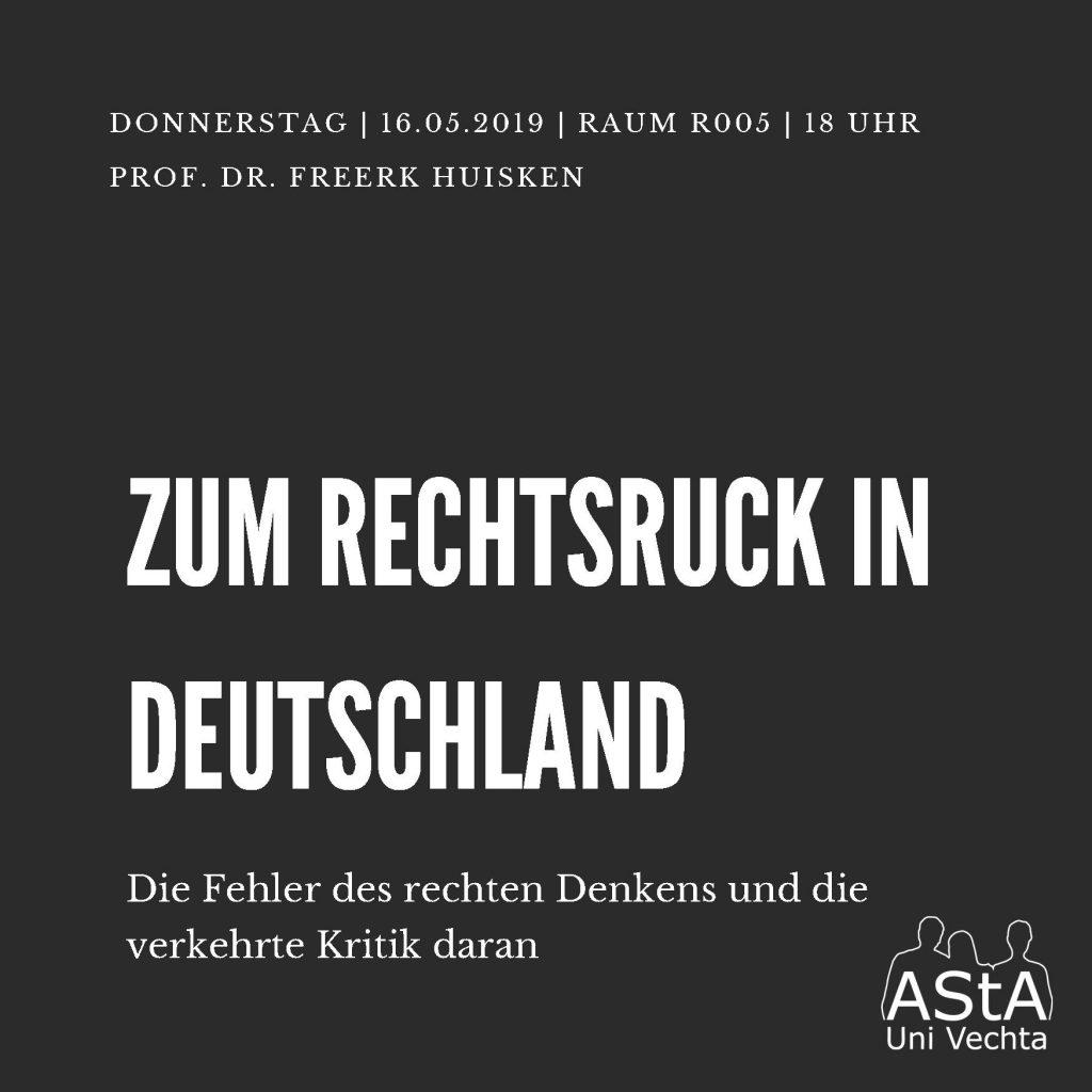 Vortrag: Zum Rechtsruck in Deutschland @ Raum R005