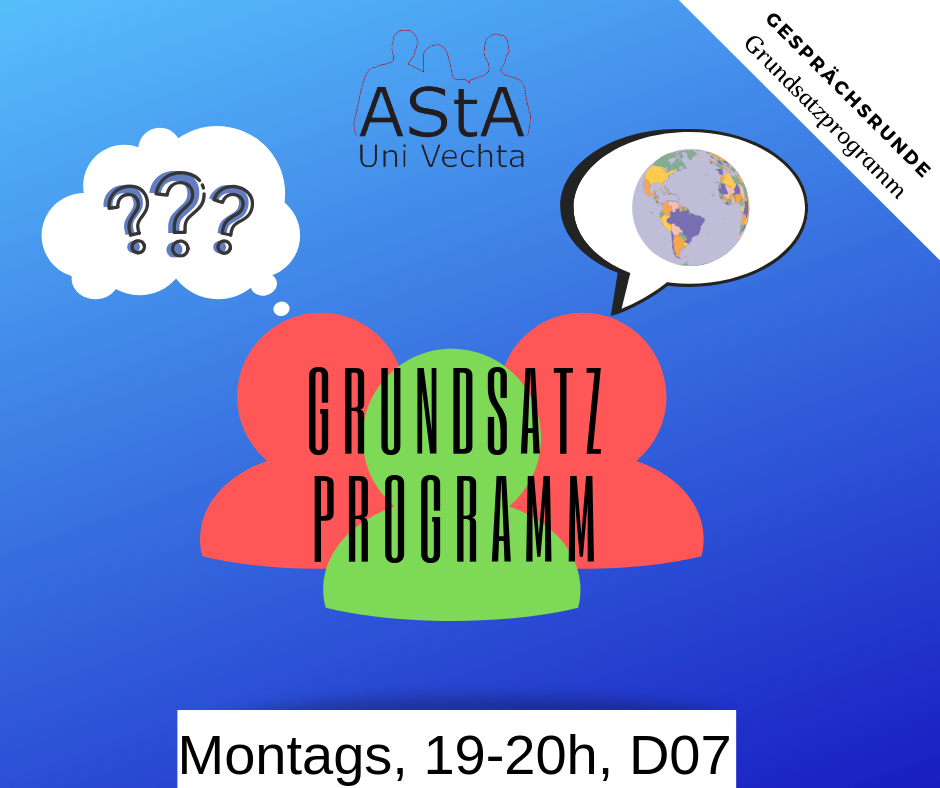 Offene Gesprächsrunde  zum Grundsatzprogramm @ AStA-Büro, Raum D07
