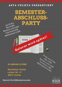 Semesterabschlussparty -Gelernt wird später- @ Wunderbar Vechta