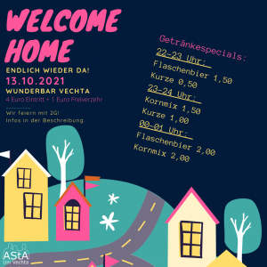 """AStA """"Welcome Home"""" Party @ Wunderbar Vechta"""